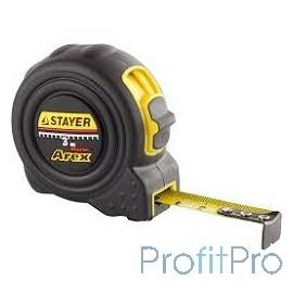"""Рулетка STAYER """"PROFI"""" """"AREX"""", двухкомпонентный противоударный корпус, упрочненное полотно, 3м/16мм [3410-03_z01]"""