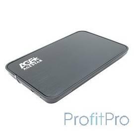 """AgeStar 3UB2A8 BLACK USB 3.0 Внешний корпус 2.5"""" SATA AgeStar 3UB2A8 (BLACK) USB3.0, сталь+пластик, черный, безвинтовая констру"""