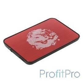 """AgeStar 3UB2A8 RED USB 3.0 Внешний корпус 2.5"""" SATA AgeStar 3UB2A8 (RED) USB3.0, сталь+пластик, безвинтовая конструкция, крышка"""