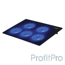 """CROWN Подставка для ноутбука CMLC-1105 black ( 15,6"""", 5 куллеров, подстветка, регулировка скорости вращения, размеры (Д*Ш*В) 3"""