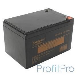Exegate EP160757RUS Аккумуляторная батарея Exegate EG12-12 / EXG12120, 12В 12Ач, клеммы F1 (универсальные)