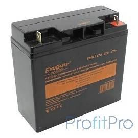 Exegate EP160756RUS Аккумуляторная батарея Exegate EG17-12 / EXG12170, 12В 17Ач, клеммы под болт M5