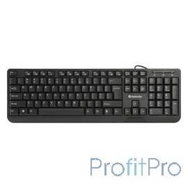 Defender OfficeMate HM-710 RU Black USB [45710] Проводная клавиатура, полноразмерная, 104кн