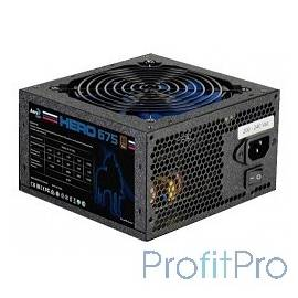 Aerocool ATX 675W Hero 675 80+ bronze (24+4+4pin) APFC 120mm, черный, retail