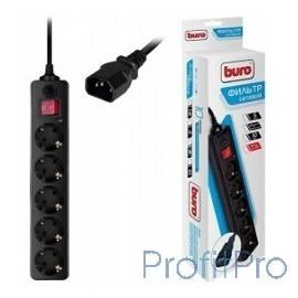 BURO Сетевой фильтр, 5 розеток, 1.8 метра, (500SH-1.8-UPS-B) черный (коробка) 992305