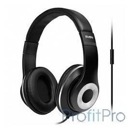 SVEN AP-930M черный-серебро Разъем 3,5 мм, Поддержка функций управления плеером, Поддержка функции hands-free, Микрофон на кабе
