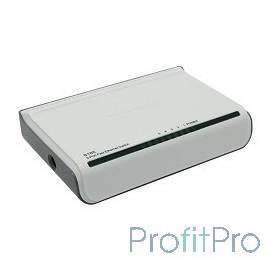 TENDA S105 mini коммутатор компактный - 5 х 10/100Мбит/с, пластиковый корпус, внешний БП