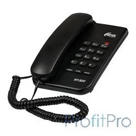 RITMIX RT-320 black проводной телефон повторный набор номера, настенная установка, регулятор громкости звонка