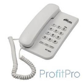 RITMIX RT-320 white проводной телефон повторный набор номера, настенная установка, регулятор громкости звонка