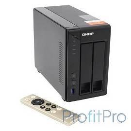 "QNAP TS-251+-2G Сетевое хранилище 2xHDD 2,5"" и 3,5"", Intel Celeron J1900 2.42GHz, 2GB up to 8GB, HDMI-port. 4xUSB, 2xGb LAN"