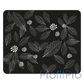 Dialog PM-H15 leafs черный с рисунком листьев,Коврик для мыши - размер 220x180x3 мм