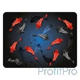 Dialog PM-H17 fish черный с цветными рыбками, Коврик для мыши - размер 285x215x3 мм