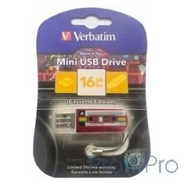 Verbatim USB Drive 16Gb Mini Cassette Edition Red 49398 USB2.0