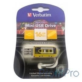 Verbatim USB Drive 16Gb Mini Cassette Edition Yellow 49399 USB2.0