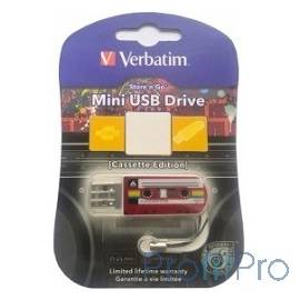 Verbatim USB Drive 32Gb Mini Cassette Edition Red 49392 USB2.0