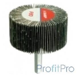 """Круг шлифовальный ЗУБР """"МАСТЕР"""" веерный лепестковый, на шпильке, тип КЛО, зерно-электрокорунд нормальный, P100, 40х80мм [36604-"""