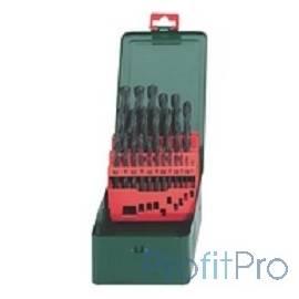 Metabo 627151000 Набор HSS-R 19 свёрел (1-10мм) в мет.коробке АКЦИЯ