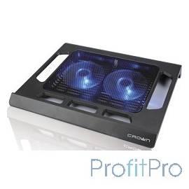 """CROWN Подставка для ноутбука CMLS-937 (Black) 15,6"""", 2*Fan,blue light"""