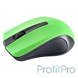 Perfeo мышь беспров, оптич., 3 кн, USB, чёрн-зел [PF-353-WOP-GN]