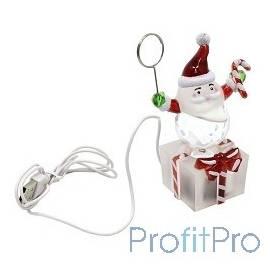 ORIENT NY6001M Дед Мороз-подарок на память с музыкой, держатель для фото/визиток, c музыкой детства, подсветка, питание от USB