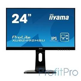 "IIYAMA 23.8"" XUB2492HSU-B1 черный IPS 1920х1080 4ms 16:9 250cd/m2, H178°/V178°, 1000:1, 5М:1, 16,7M Color, 5ms, VGA, HDMI, DP"