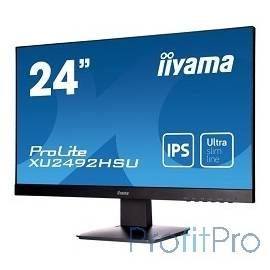"IIYAMA 23.8"" XU2492HSU-B1 черный IPS LED 1920x1080 5ms 16:9 250cd 178гр/178гр D-Sub HDMI DisplayPort"
