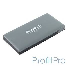 CANYON CNS-TPBP10DG Power bank 10000mAh (Color: Dark Gray), bulit in Lithium Polymer Battery