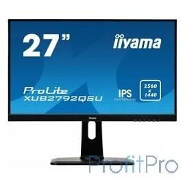 """IIYAMA 27"""" XUB2792QSU-B1 черный IPS LED 2560x1440 5ms 16:9 350cd 178гр/178гр DVI HDMI D-Sub"""