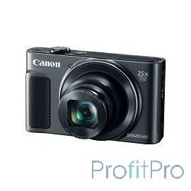 "Canon PowerShot SX620 HS черный 20.2Mpix Zoom25x 3"" 1080p SDXC/SD/SDHC CMOS 1x2.3 IS opt 5minF 2.5fr/s 30fr/s HDMI/WiFi/NB-13L"