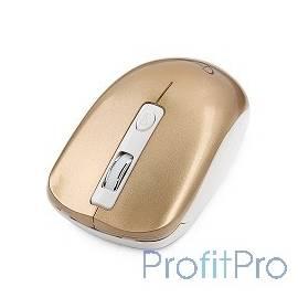 GembirdMUSW-400-G Gold USB Мышьбеспров.,3кн.+колесо-кнопка,2.4ГГц,1600dpi, бесшумный клик