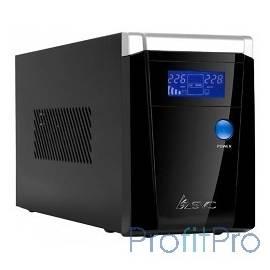 SVC, V-1200-F-LCD, Smart, USB, AVR: 165-275В, Бат.: 12В/7.5 Ач*2шт.Чёрный