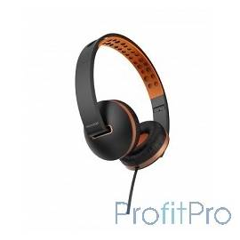 MICROLAB Наушники с микрофоном K761D black/orange, 20Hz - 20KHz