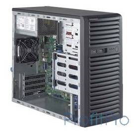 Supermicro SuperServer Mid-Tower 5039D-i CPU(1) E3-1200v5/ noHS/ no memory(4)/ on board RAID 0/1/5/10/ internalHDD(4)LFF/ 2xGE/