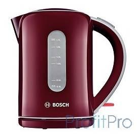 Чайник Bosch TWK7604 1.7л. 2200Вт бордовый (пластик)