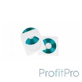 HAMA Конверты для CD/DVD бумажные с прозрачным окошком 100шт (белый) H-49995