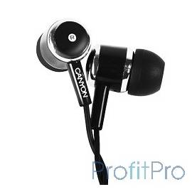 CANYON CNE-CEPM01B Stereo earphones with microphone, Black