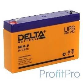 Delta HR 6-9 (634W) (9 А\ч, 6В) свинцово- кислотный аккумулятор