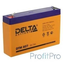 Delta DTM 607 (7 А\ч, 6В) свинцово- кислотный аккумулятор