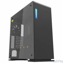 GameMax Корпус [9909 Vega black Perspex] (Midi Tower, ATX, black+ Perspex, RGB LED) (без БП)