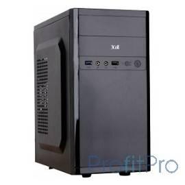 3Cott 3C-MATX-R833, Black, mATX, блок питания 400 Вт, выходы USB 2.0x2, Audio+Mic, материал шасси класса A, SPCC толщиной 0.5