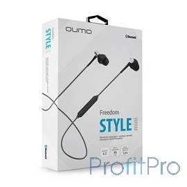 QUMO Freedom Style Mini (BT-0011) , темно серый, затычки, Bluetooth 4.2, 80 мА-ч, до 4х часов в режиме разговора[21779]