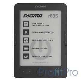 "Электронная книга Digma R63S 6"" E-Ink Carta 800x600 600MHz/4Gb/microSDHC/frontlight темно-серый"