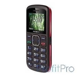 TEXET TM-B220 мобильный телефон цвет черный-красный
