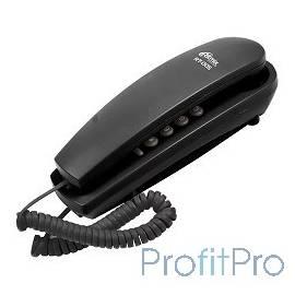 RITMIX RT-005 black проводной телефон, повторный набор номера, настенная установка, кнопка выключения микрофона, регулятор гром
