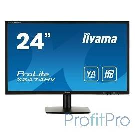 "IIYAMA 23.6"" X2474HV-B1 черный VA LED 1920x1080 4ms 16:9 178гр/178гр 250cd D-Sub"