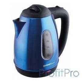 Чайник FIRST FA-5410-5 Dark blue, 1.8 л, 1800 Вт, окно, металлич.корпус, Dark blue.
