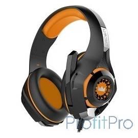 CROWN CMGH-102T Black&orange (Подключение USB, встроенная аудио карта, Частотныи? диапазон: 20Гц-20,000 Гц ,Кабель 2.1м,Размер