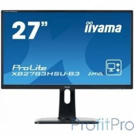 "IIYAMA 27"" XB2783HSU-B3 черный VA LED 1920x1080 4ms 16:9 HDMI 3000:1 300cd 178гр/178гр D-Sub DisplayPort"