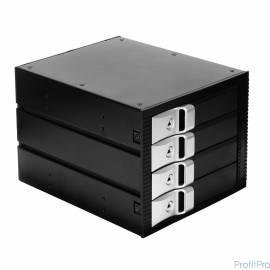 "EXEGATE EX264645RUS Корзина для HDD Exegate HS435-01 (универсальная, на 4*3,5"" SATA/SAS HDD, занимает 3*5,25"" отсека)"