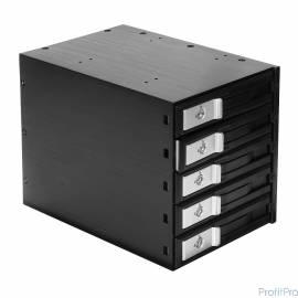 "EXEGATE EX264646RUS Корзина для HDD Exegate HS535-01 (универсальная, на 5*3,5"" SATA/SAS HDD, занимает 3*5,25"" отсека)"